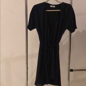Navy Aritzia wrap dress